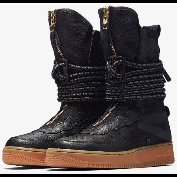 Nike Shoes Womens Sf Air Force 1 High Black Gum Poshmark